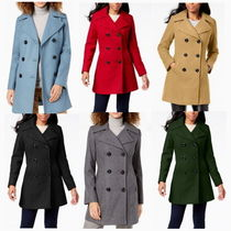 Anne Klein Casual Style Wool Medium Peacoats