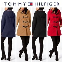 Tommy Hilfiger Other Check Patterns Wool Plain Medium Elegant Style