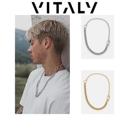 Unisex Street Style Chain Stainless Necklaces & Chokers