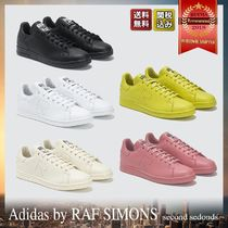 RAF SIMONS Unisex Street Style Collaboration Plain Leather Sneakers