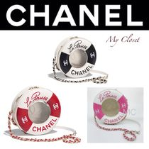 CHANEL ICON Stripes Lambskin Street Style 2WAY Chain Elegant Style