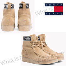 Tommy Hilfiger Rubber Sole Casual Style Suede Street Style