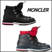 MONCLER Stripes Street Style Leather Boots