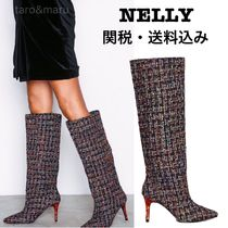 NELLY Other Check Patterns Casual Style Pin Heels