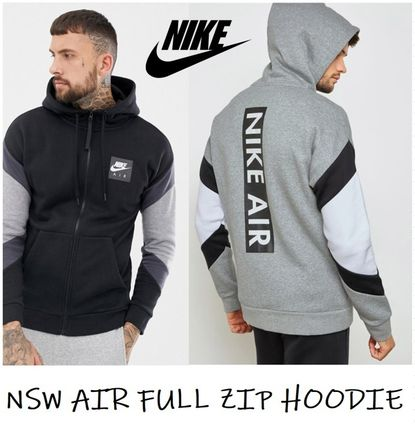 a64357a786b4 ... Nike Hoodies Unisex Street Style Long Sleeves Plain Cotton Hoodies ...