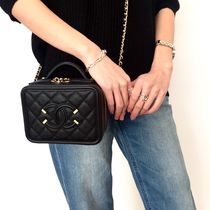CHANEL MATELASSE 2WAY Plain Leather Elegant Style Shoulder Bags