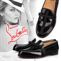 Christian Louboutin Plain Leather Loafer Pumps & Mules