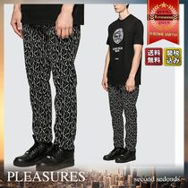 PLEASURES Printed Pants Monogram Street Style Bi-color Cotton