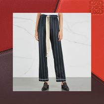 LOEWE Stripes Casual Style Silk Long Cropped & Capris Pants