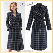 Chicwish Other Check Patterns Elegant Style Coats