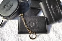 CHANEL TIMELESS CLASSICS Unisex Leather Keychains & Bag Charms