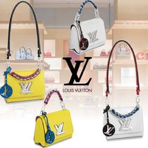 Louis Vuitton EPI 2WAY Plain Leather Elegant Style Shoulder Bags