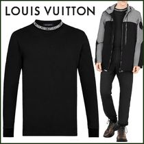 Louis Vuitton Pullovers Blended Fabrics Street Style Bi-color Long Sleeves