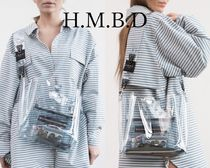 HMBD Casual Style Street Style Collaboration Crystal Clear Bags
