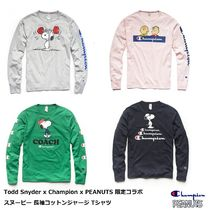 CHAMPION Crew Neck Unisex Street Style Collaboration Long Sleeves