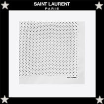 Saint Laurent Dots Silk Handkerchief