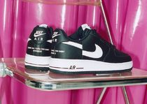 Nike AIR FORCE 1 Unisex Street Style Collaboration Leather Sneakers
