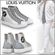 Louis Vuitton MONOGRAM Monogram Blended Fabrics Street Style Bi-color Sneakers