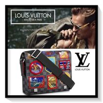 Louis Vuitton DISTRICT Other Check Patterns Canvas Blended Fabrics 2WAY