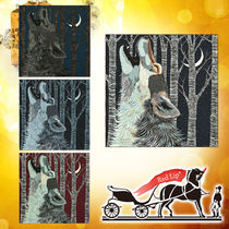 HERMES Cashmere Blended Fabrics Other Animal Patterns Accessories