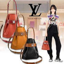 Louis Vuitton EPI 3WAY Plain Leather Elegant Style Handbags