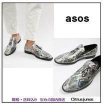 ASOS Loafers Faux Fur Python Loafers & Slip-ons