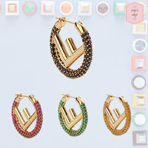 FENDI Blended Fabrics Elegant Style Earrings & Piercings