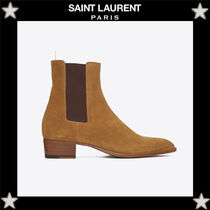 Saint Laurent Plain Leather Chelsea Boots Chelsea Boots