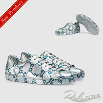 GUCCI Blended Fabrics Street Style Leather Sneakers