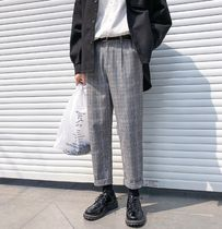 Tapered Pants Glen Patterns Street Style Tapered Pants