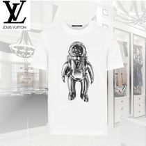 Louis Vuitton V-Neck Short Sleeves V-Neck T-Shirts