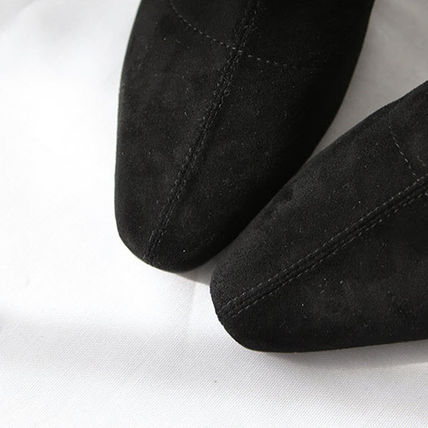 Ankle & Booties Square Toe Suede Plain Elegant Style Chunky Heels 17