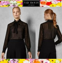 TED BAKER Dots Long Sleeves Plain Medium Elegant Style
