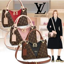 Louis Vuitton Monogram 2WAY Leather Elegant Style Totes