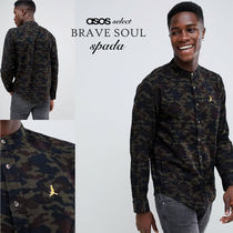 ASOS Camouflage Street Style Long Sleeves Cotton