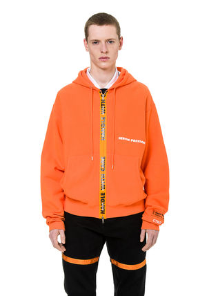 Heron Preston Hoodies Unisex Street Style Long Sleeves Plain Cotton Hoodies 2
