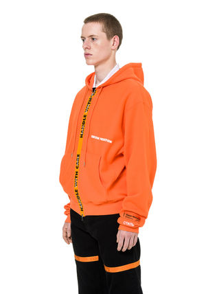 Heron Preston Hoodies Unisex Street Style Long Sleeves Plain Cotton Hoodies 4