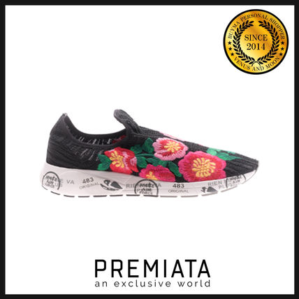 Flower Patterns Casual Style Low-Top Sneakers