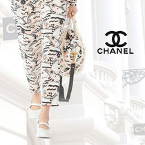 CHANEL Other Check Patterns Star Calfskin Blended Fabrics