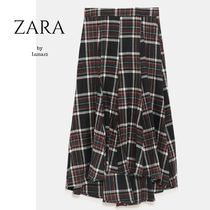 ZARA Flared Skirts Other Check Patterns Casual Style Medium