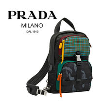 PRADA Other Check Patterns Camouflage Unisex Nylon Street Style