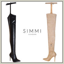 SIMMI Suede Pin Heels Over-the-Knee Boots