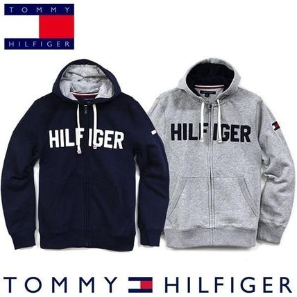 Tommy Hilfiger Hoodies Unisex Street Style Long Sleeves Cotton Hoodies