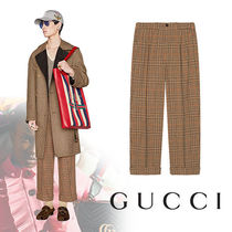 GUCCI Other Check Patterns Wool Cropped Pants