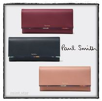 Paul Smith Plain Leather Long Wallets