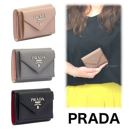 Saffiano Bi-color Plain Folding Wallets