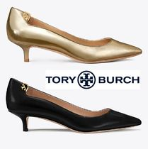 Tory Burch Plain Leather Pin Heels Elegant Style