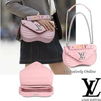 Louis Vuitton 2WAY Plain Leather Elegant Style Shoulder Bags