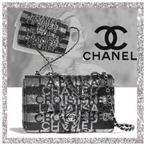 CHANEL Stripes 2WAY Party Style Shoulder Bags