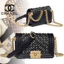 CHANEL Casual Style Calfskin Chain Bags